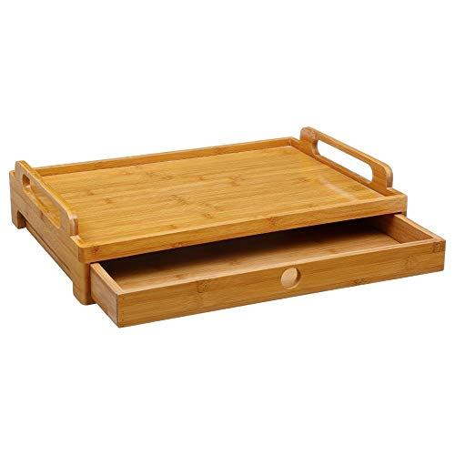 Plateau avec tiroir pour petit déjeuner dans le lit ou plateau TV dans le canapé ... Plateau en Bambou de belle qualité et finition