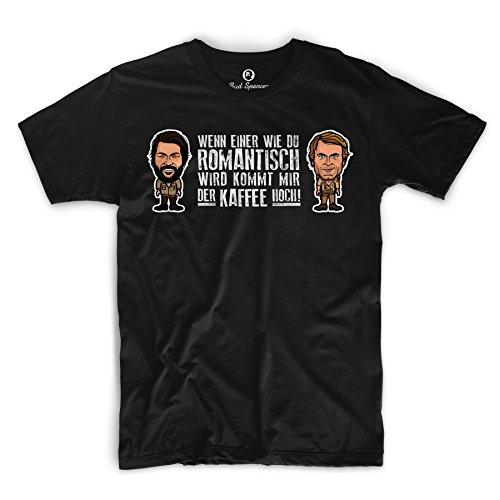 Bud Spencer - Romantisch - T-Shirt (schwarz) (5XL)