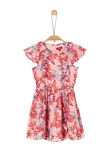 s.Oliver Junior Mädchen Kleid für besondere Anlässe, 42a4 Dusty Rose Aop, 122/REG