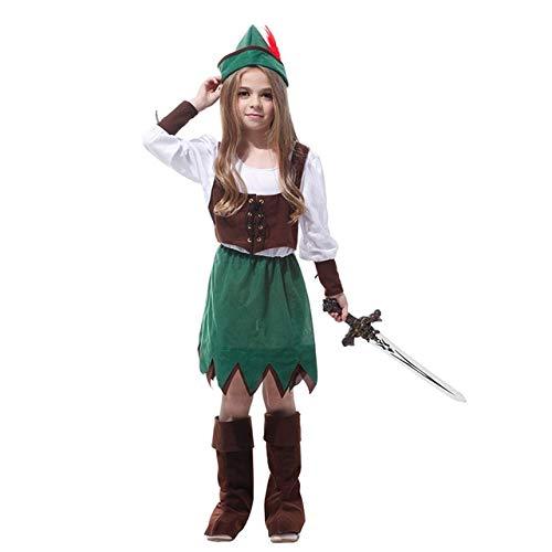 WSJDE Jäger Kostüme Waldprinz Halloween Kostüm Für Kostümparty Anzüge Piraten Kostüme Weihnachten Kleidung Samurai Anzug XL Kein Schwert