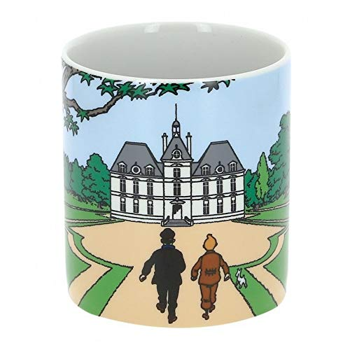 Moulinsart Collectible Porcelain Mug Tintin, Snowy with Haddock Castle (47985)