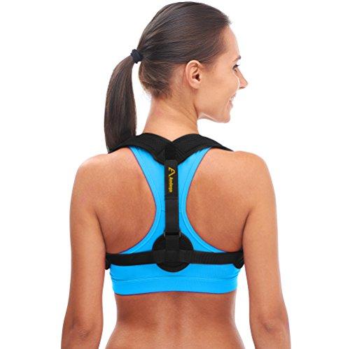 Sangle d'épaule correcteur de posture dos femme homme – Ceinture dorsale efficace pour corriger la posture – Soulage les douleurs dorsales – Taille L/XL