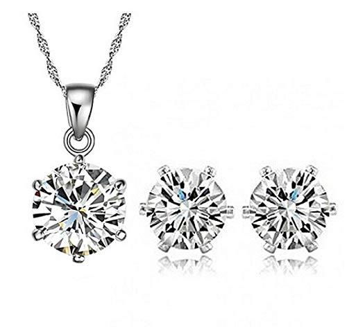 Lot parure voor dames - ketting - oorbellen - diamanten - idee voor een verjaardagscadeau voor kerstmis strass