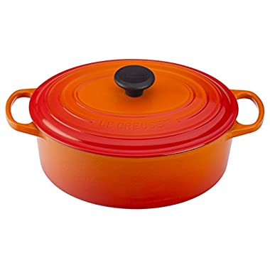 Le Creuset of America Enameled Cast Iron Signature Oval Dutch Oven, 8 quart, Flame