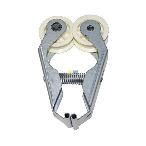 Con tracolla in pelle con ORIGINAL corsa Rotolo di Carta da rullo tenditore per attrezzi da bici con supporto asciugatrice Whirl piscina Bauknecht 481235818055