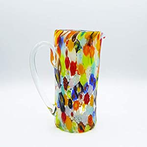 Jarra de cristal de Murano Colección Schizzo Color Murrina (23 cm).