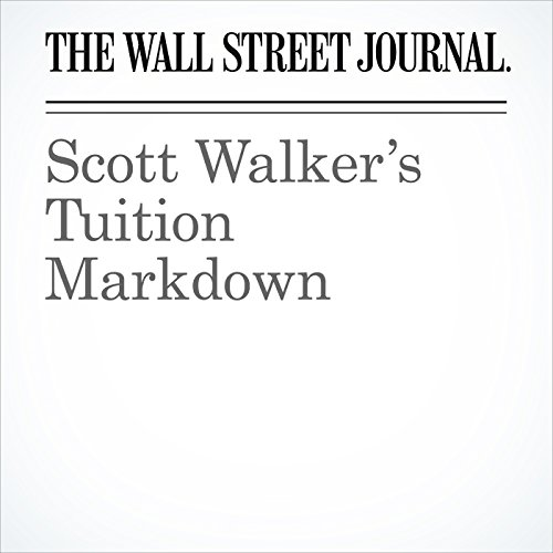 Scott Walker's Tuition Markdown copertina