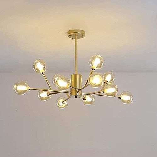 Sputnik Lamp Kroonluchter Moderne kroonluchter verlichting Industria Keuken Verlichting for eetkamer Keuken Woonkamer Slaapkamer, 12 hoofden in zwart, Kleur: 12 Hoofden van Gold