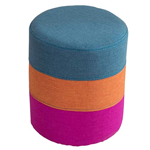 XLEVE Sofá de heces - Resto Taburete Redondo sofá heces Muebles Modernos, Cubierta Desmontable, extraíble (Color : A)