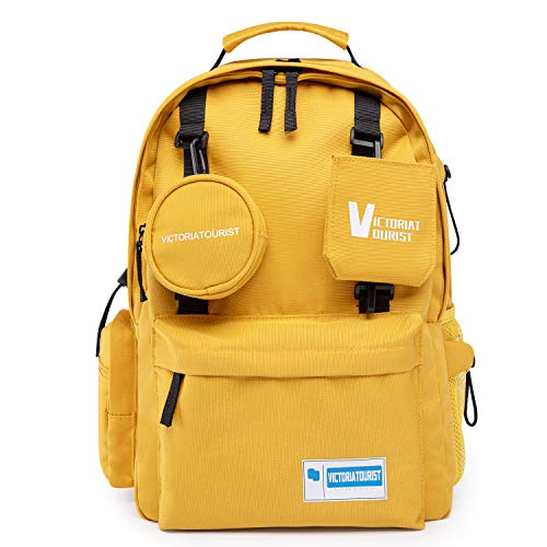 Laptop Backpack Water Resistant Bag for 14-15 Inch Macbook Computer Business Backpacks for Women Men College School Student Gift, Bookbag Casual Hiking Daypack, Yellow