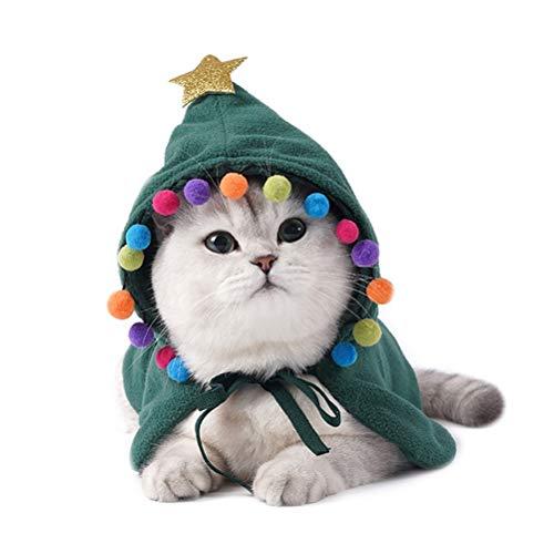 Fovor (2020 NEU) Halloween Requisiten Dekorationen, Haustier Hund Umhang Weihnachten Katzenmantel Kapuzenstil Warm halten Katze Hund Kleidung Hunde Haustier Kleidung Mantel Haustiere Kleidung