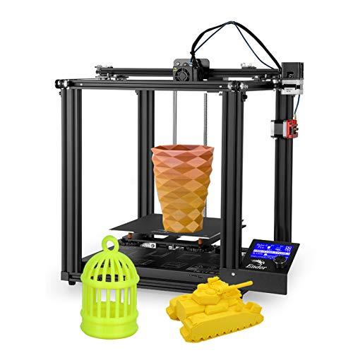 Adaskala Hochpräzises 3D-Drucker-DIY-Kit für -5 Pro mit Upgrade Silent Motherboard PTFE-Schlauch Metallextruder 220 * 220 * 300 mm Fortsetzungsdruck mit 8 GB TF-Karte Weißes