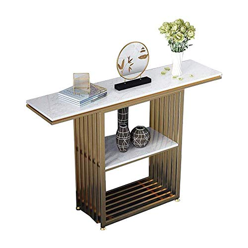 FTFTO Living Decoration Nordic Light Porch Table Marble Porch Table Wall Side Table/Modern Minimalist Porch Cabinet End View Table 80 * 30 * 80 Cm