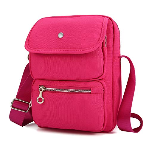Nylon Shoulder Bag Messenger Bag for Women, JOSEKO Crossbody Handbags Multi-Pocketed Purse Lightweight Waterproof Travel Bag for Ladies Wallet Passport for Daily Work
