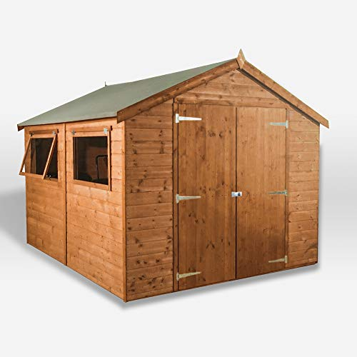 WALTONS EST. 1878 Wooden Garden Shed 10x8 Outdoor Storage Building, Pressure Treated Shiplap, Apex Roof 10ft 8ft