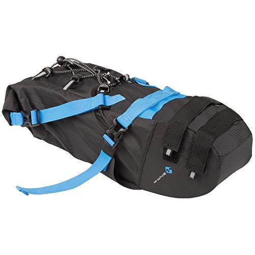 M-Wave Unisex Rough Ride Saddle M Bolsa para Bicicleta, Color Negro, Aprox. 46 x 9 x 11 cm