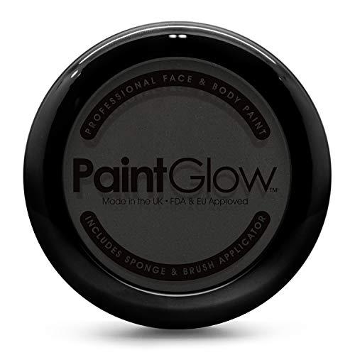 PaintGlow Pro face & body paint pots cake (negro)