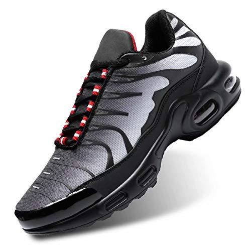 Socviis Men's Fashion Sneaker Air Running Shoes for Men Athletics Sport Trainer Tennis Basketball Shoes Grey 10
