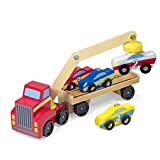 Melissa & Doug Magnetic Car Loader | Wooden Vehicles & Trains | Trucks & Vehicles | 3+ | Gift for Boy or Girl