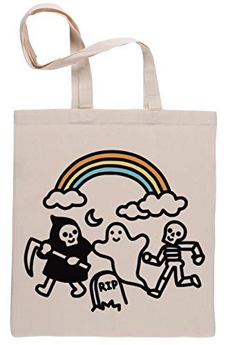 Spooky Pals Beige Reutilizable Bolsa De Compras Reusable Beige Shopping Bag