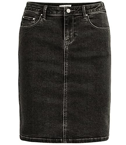 Van Der Rich ® - kniehoher Jeans Rock - Damen (Schwarz, 40)