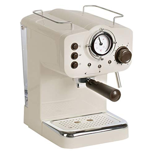 Unbekannt Przelewowy ekspres do kawy z filtrem, mini ekspres do kawy 15 barów (kolor : biały, rozmiar: 28,8 x 20 x 31,4 cm)