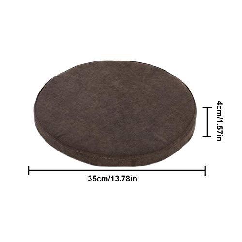 rainnao 35cm Durchmesser Schwammkissen, Langsam Rebound, High-Dichte Runde Schokolade, Abnehmbar Und Waschbar Haushalt Einfache Speicher Baumwollbasis