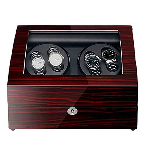 RTYUIO Caja enrolladora de Relojes Caja enrolladora de Relojes Rectángulo automático con luz Abre la Tapa y Detiene el Movimiento silencioso 5 programas Vida Interesante