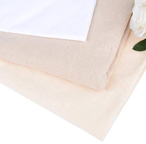 3 Stück 45,7 x 50,8 cm klassische Reserve Aida Stoff Kreuzstich Tuch Flachs Stoff für Mode Geschenkideen DIY (weiß und khaki und dunkles khaki)