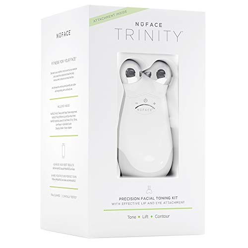 NuFACE PRECISION Facial Toning Kit | Trinity Facial Trainer Device + ELE Attachment | Handheld...