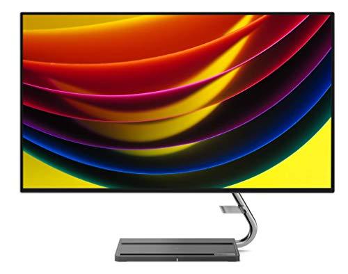 Lenovo Qreator 27 - Monitor de 27' 4K UHD (3840x2160 píxeles, IPS, 16:9, 4ms, 1300:1, Puertos DP + HDMI + USB) Regulable en inclinación - Color Gris
