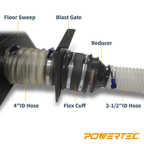POWERTEC 70136 4-Inch to 2-1/2 Inch Cone Reducer