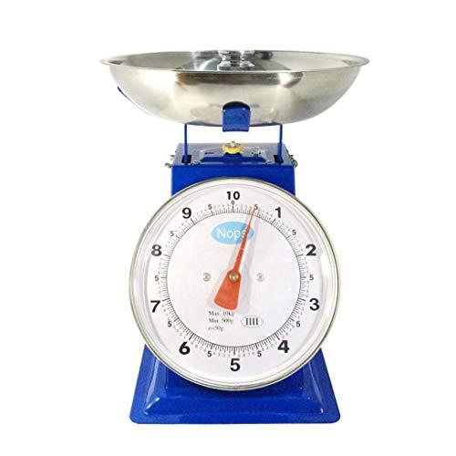 None Branded Báscula mecánica de pesaje, 1 kg3 kg5 kg, balanza de resorte, bandeja de puntero, báscula de cocina de metal, plataforma mecánica (tamaño: 5 kg)