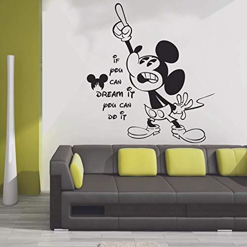 Anime dibujos animados tatuajes de pared dibujos animados ratón vida puertas y ventanas pegatinas de vinilo dormitorio de los niños decoración del hogar refrigerador pegatinas murales