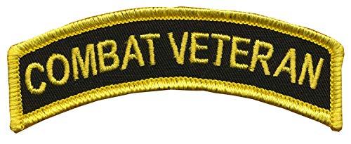 "CVMA Style TAB -""Combat Veteran"" - 1"" X 3 1/2"" Combat Veteran Tab - Merrowed Edge and Wax Backing - OIF, OEF, Desert Storm, Operation Just Cause, Somalia - Combat Veteran Motorcycle Association Color"