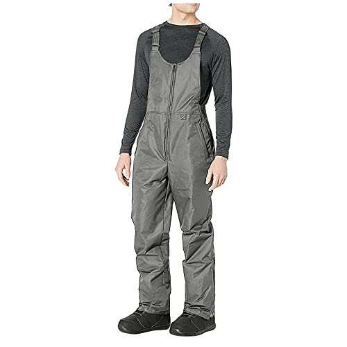 WinVic Mens Ski Bibs Pants Waterproof Workwear Adjustable Back Strap Trousers Overalls Snow One-Piece with Pocket