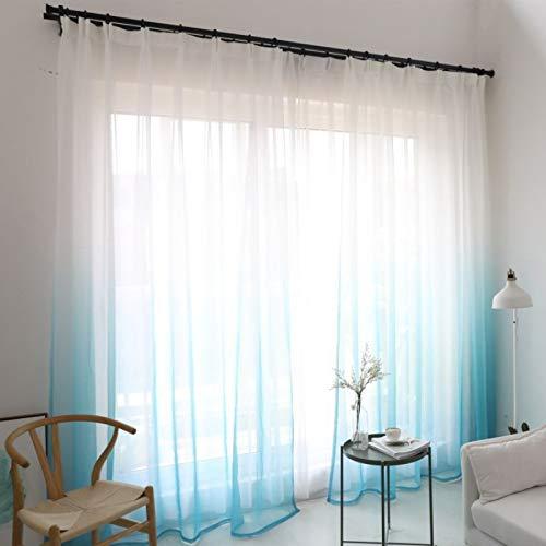 Bolo Cortinas de gasa decorativas con efecto de lino, para el hogar, 1,4 x 2,4 m