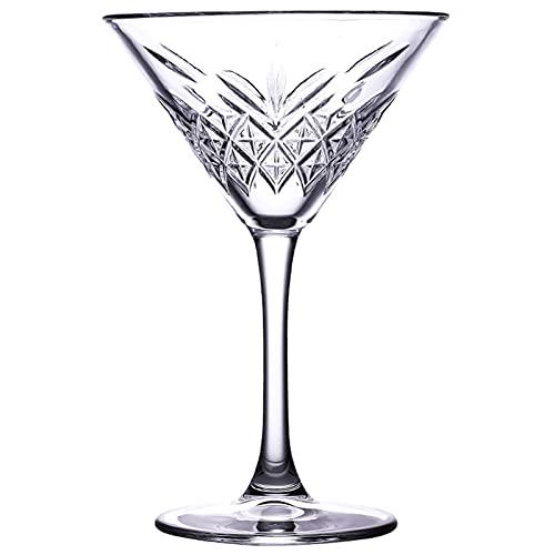 Copa de Martini Tallada Copa Creativa Coctel de cóctel de Cristal Champagne Triángulo de Cristal Barra de Vidrio,250ml