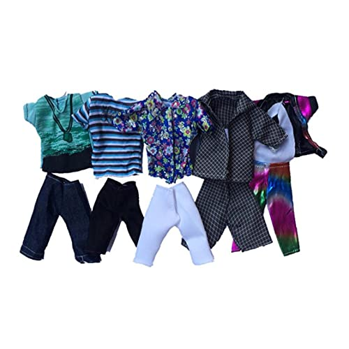 Christmas Decorations Doll Toy Clothing Summer Sport Fashion Shirts and Shorts for Ken Doll Toy Doll Random Style 5set