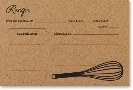 high quality Double Sided Kraft Recipe Cards 4x6 50 lowest Count - Card sale Stock outlet online sale