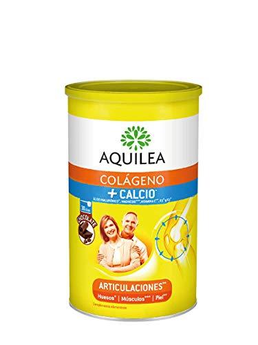 AQUILEA - Uriach Artinova Colágeno + Calcio con Ácido Hialurónico y Vitamina C,D3 y K2, Sabor Choco, 495 Gramos