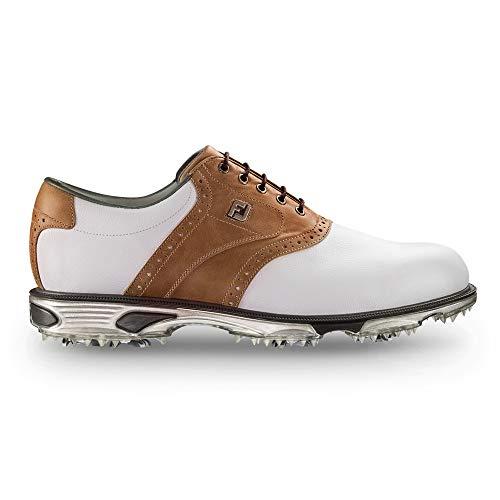Footjoy DryJoys Tour Golfschuhe für Herren, Weiß - White Bomber Taupe - Größe: 10.5 UK X-Wide