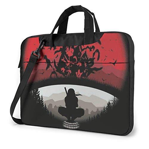 15.6 inch Laptop Shoulder Briefcase Messenger Anime Na-ru-to Uchiha Itachi Tablet Bussiness Carrying Handbag Case Sleeve
