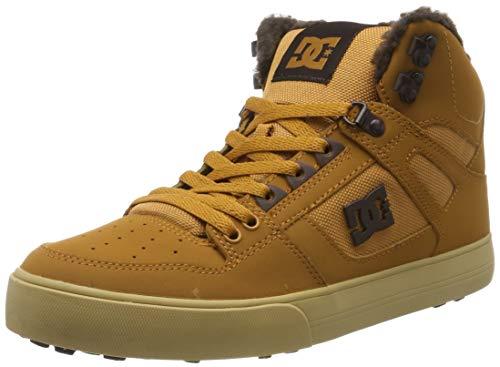DC Shoes Herren Pure High-top Wc - Winter Shoes for Men Skateboardschuhe, Brown/Chocolate, 45 EU