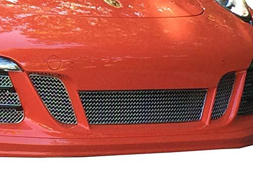 Zunsport Compatible avec Porsche Carrera 991.1 GTS - Ensemble calandre Central - Finition Argent (2015-2016)