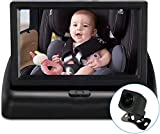 Lovinouse Baby Car Mirror, Large Size 170 Degree Rear Wider Clear View, Camera Aimed at Baby Every Move (Black).