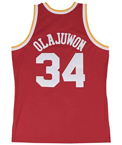 Hakeem Olajuwon Houston Rockets Men's Red Swingman Player Jersey (Large)