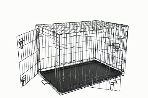 Shine Mount Dog Crates 36' With removable ABS Tray- Foldable perfect for Training and Travel