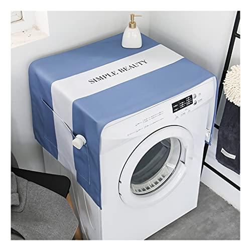BCL waschmaschinenbezug Waschmaschine Abdeckung Staub Öldicht Trockner Top Loader Tuch Mit Seitlichen Aufbewahrungstaschen Baumwolle Leinen Küche Kühlschrank Appliance Protector(Color:B.)