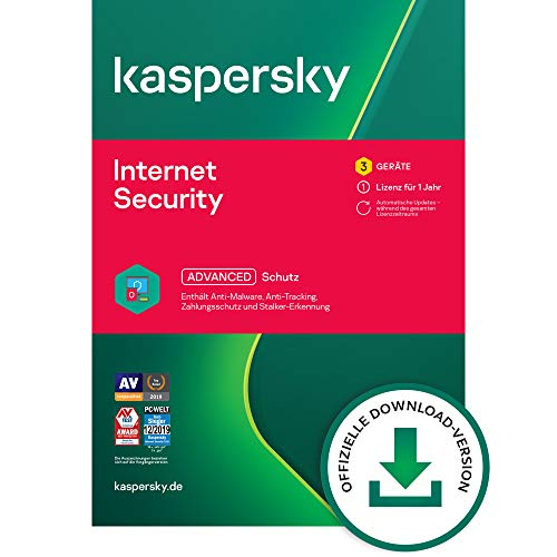 Kaspersky Internet Security 2021 Standard | 3 Geräte | 1 Jahr | Windows/Mac/Android | Aktivierungscode per Email